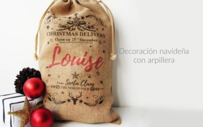 Decoración navideña con arpillera. Una opción precio-calidad excelente.