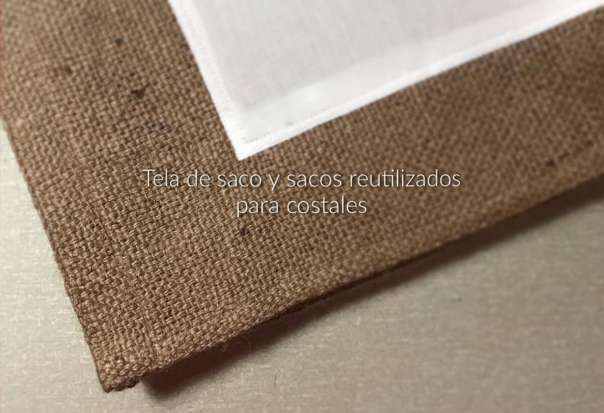 Tela de saco y sacos de yute reutilizados para costales